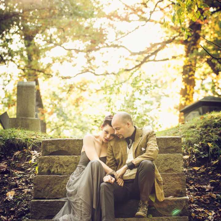 MOUNT HOPE CEMETERY WEDDING PORTRAITS : ROCHESTER, NY