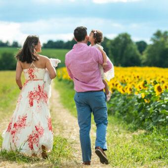 Rochester NY Family Photography : Sunflower Field Family Photoshoot by tomas flint