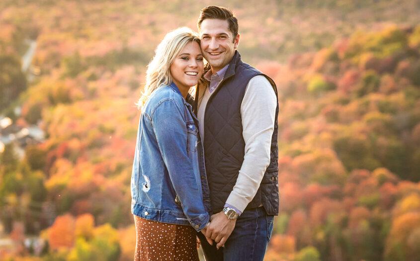 Adirondack Mountains Engagement Photography : Fall Foliage Engagement Photos : Wedding Photography by tomas flint